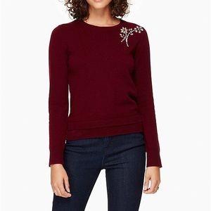 Kate Spade Embellished Brooch Sweater